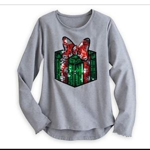 Disney Minnie Silver Christmas Gift Top